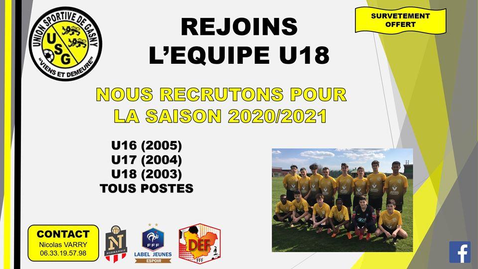 Rejoins l'équipe U18