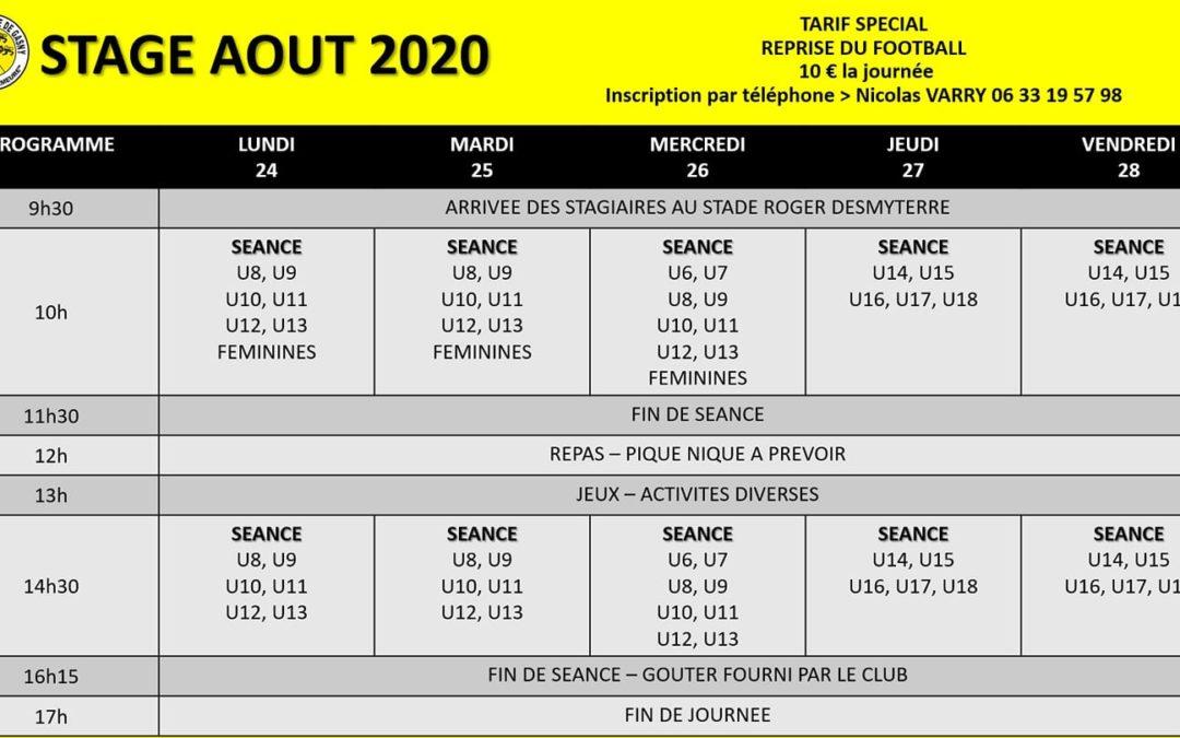Stage Août 2020