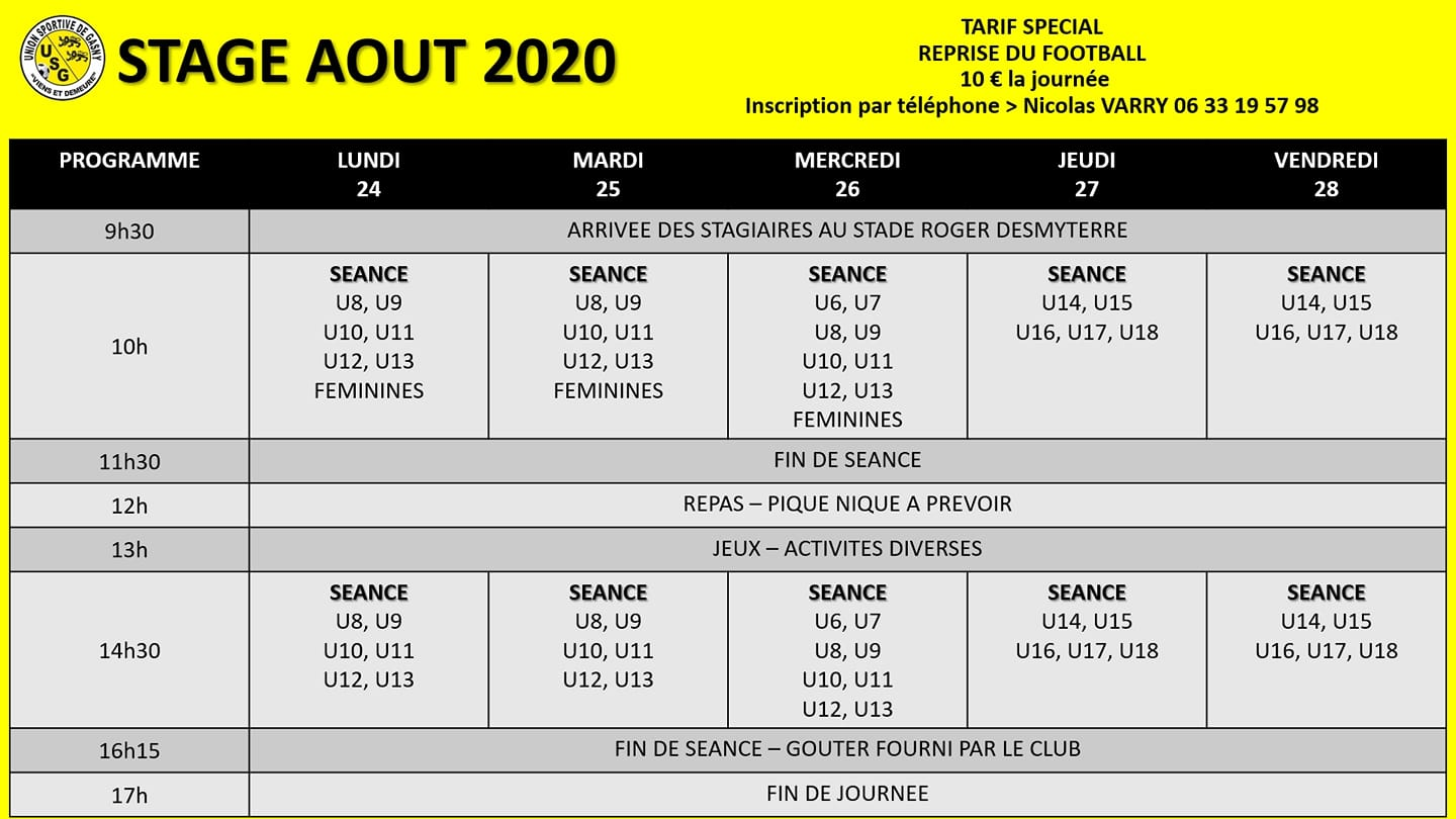 usg stage aout 2020