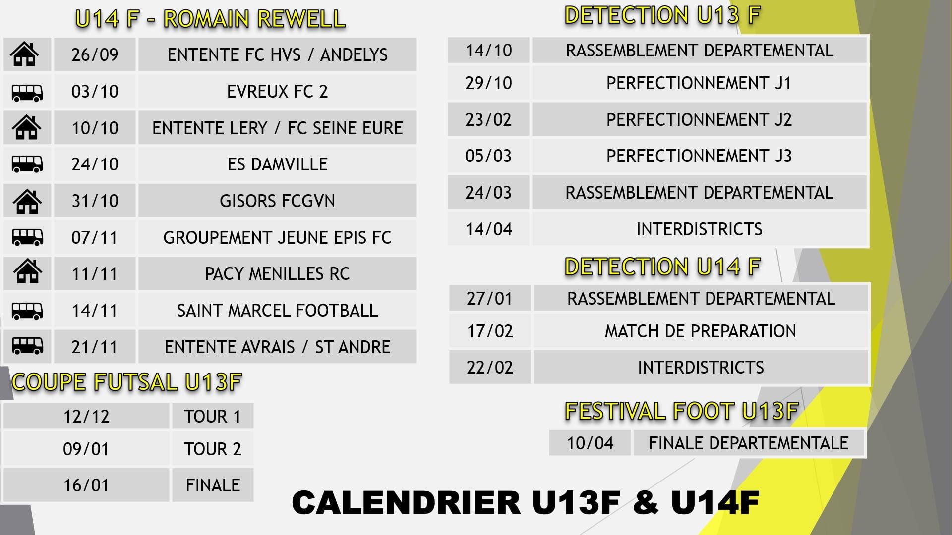 calendrier u13-u14